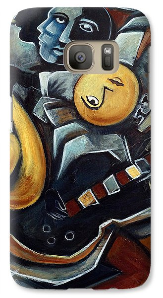 Indigo Blues Galaxy Case by Valerie Vescovi