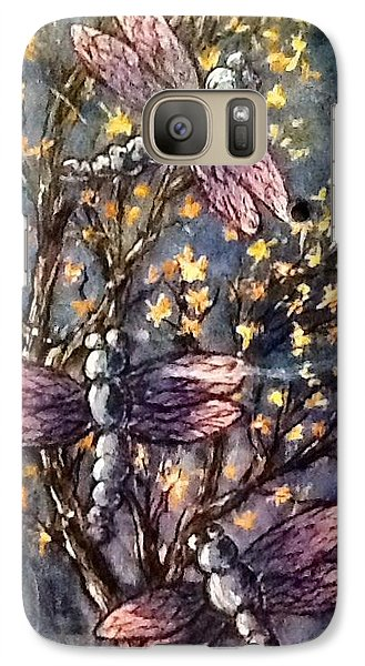 Galaxy Case featuring the painting Indigo Dragons by Megan Walsh