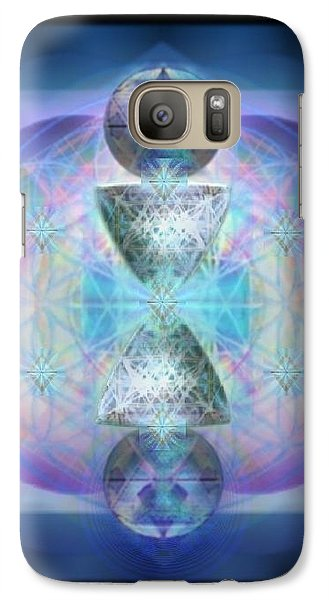 Galaxy Case featuring the digital art Indigoaurad Chalice Orbing Intwined Hearts by Christopher Pringer