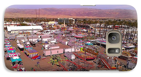 Galaxy Case featuring the photograph Indio Fair Grounds by Chris Tarpening