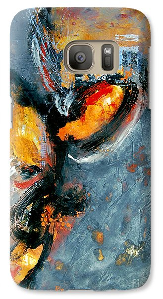 Galaxy Case featuring the painting Inferno by Ron Stephens