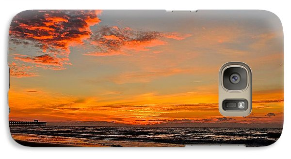 Galaxy Case featuring the photograph Inferno Sky by Eve Spring