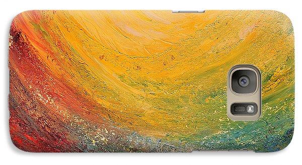 Galaxy Case featuring the painting Infinity by Teresa Wegrzyn