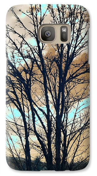 Galaxy Case featuring the photograph Infrared Split Second Sun Couds by Rebecca Parker