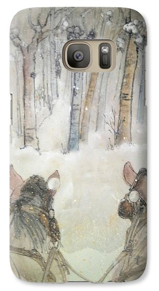 Galaxy Case featuring the painting Inges Back Album by Debbi Saccomanno Chan