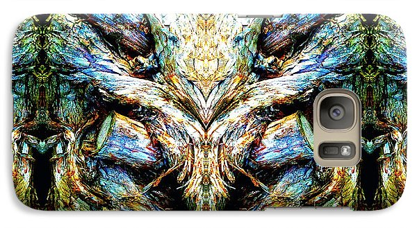 Galaxy Case featuring the photograph Ingrained Wings by Marianne Dow