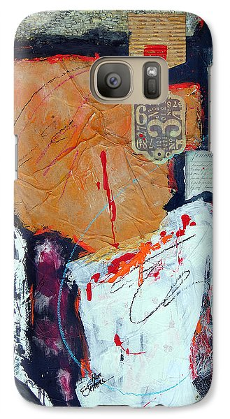 Galaxy Case featuring the painting Inigma by Ron Stephens
