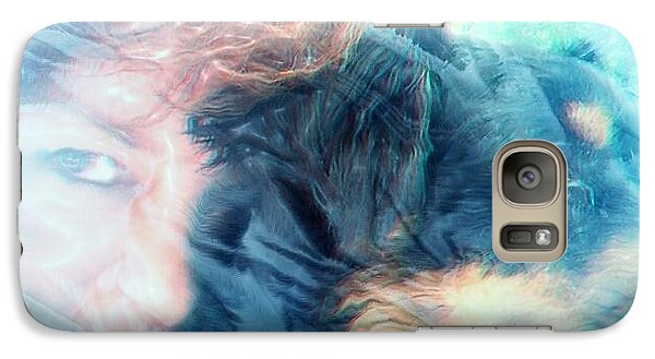 Galaxy Case featuring the photograph Inky And I by Denise Tomasura