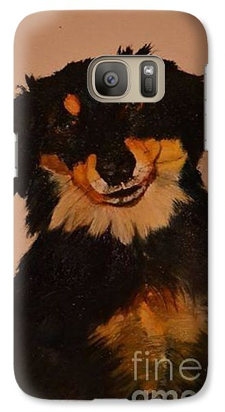 Galaxy Case featuring the painting Inky by Denise Tomasura