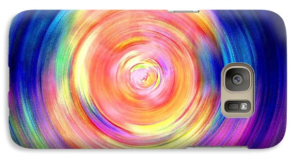 Galaxy Case featuring the digital art Inner Glow Abstract Art by Annie Zeno