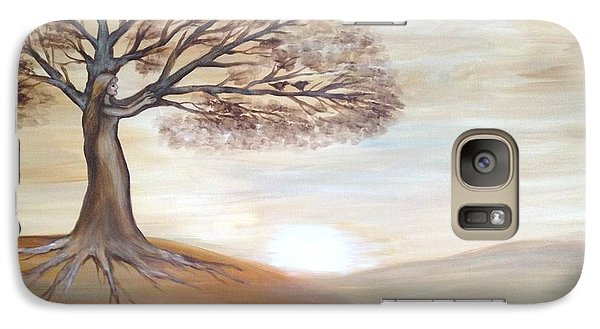 Galaxy Case featuring the painting Inner Goddess by Agata Lindquist