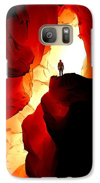 Galaxy Case featuring the digital art Inner Light by Matt Lindley