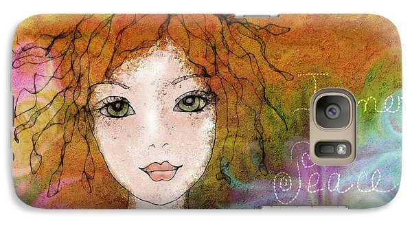 Galaxy Case featuring the digital art Inner Peace by Barbara Orenya