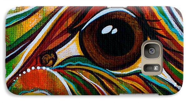 Galaxy Case featuring the painting Inner Strength Spirit Eye by Deborha Kerr