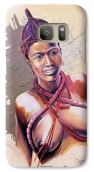 Galaxy Case featuring the painting Innocence  by Oyoroko Ken ochuko