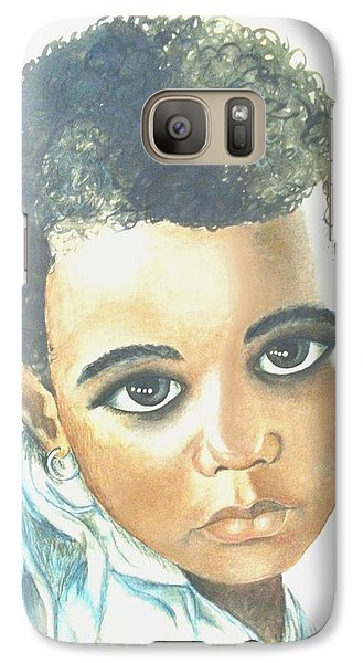 Galaxy Case featuring the painting Innocent Sorrow by Sophia Schmierer