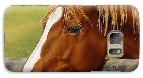 Galaxy Case featuring the painting Inquisitive by Margaret Stockdale