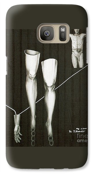 Galaxy Case featuring the painting Insecurity by Fei A