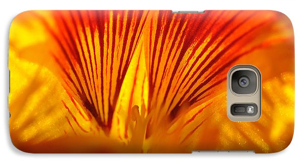 Galaxy Case featuring the photograph Inside A Flower by Luis Esteves