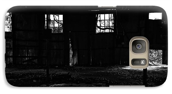 Galaxy Case featuring the photograph Inside Old Warehouse by Susan D Moody