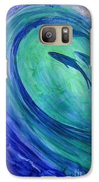 Galaxy Case featuring the painting Inside The Curl by Joan Hartenstein