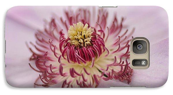 Galaxy Case featuring the photograph Inside The Flower by Mike Martin