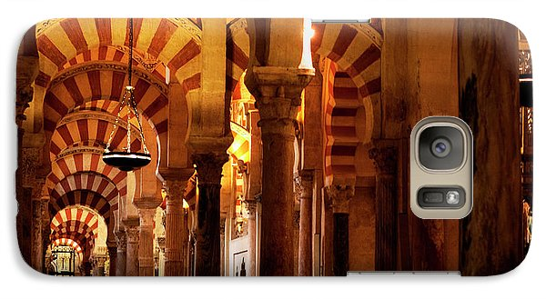 Galaxy Case featuring the photograph Inside The Mezquita by Lorraine Devon Wilke
