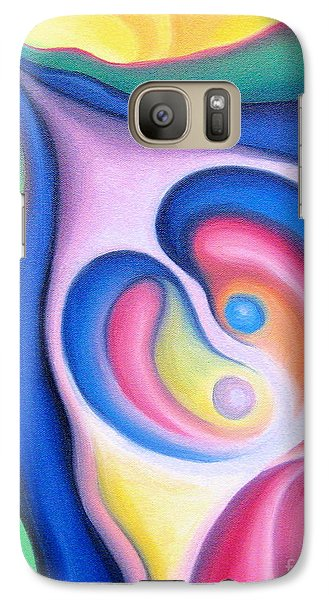 Galaxy Case featuring the painting Inside The Revelry Of Like Minds by Tiffany Davis-Rustam