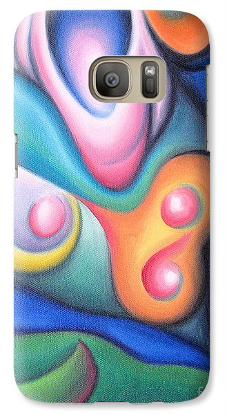 Galaxy Case featuring the painting Inside The Revelry Of Motion by Tiffany Davis-Rustam