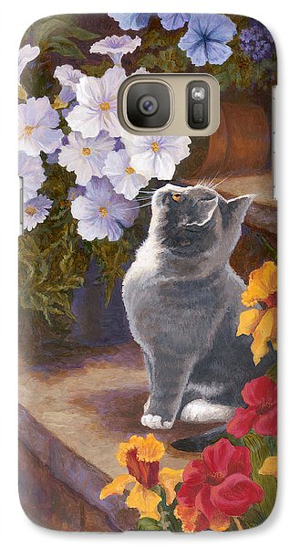 Galaxy Case featuring the painting Inspecting The Blooms by Evie Cook