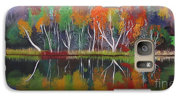 Galaxy Case featuring the painting Inspiration Autumn Evening by Art Ina Pavelescu