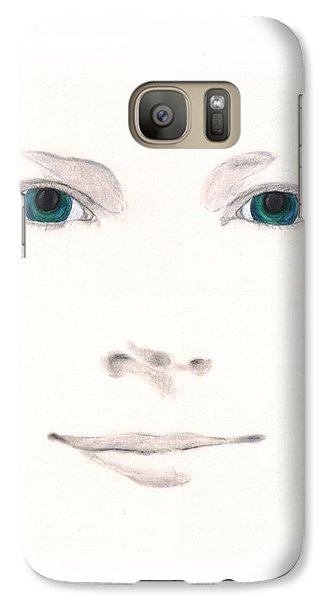 Galaxy Case featuring the drawing Inspiration by Stephanie Grant