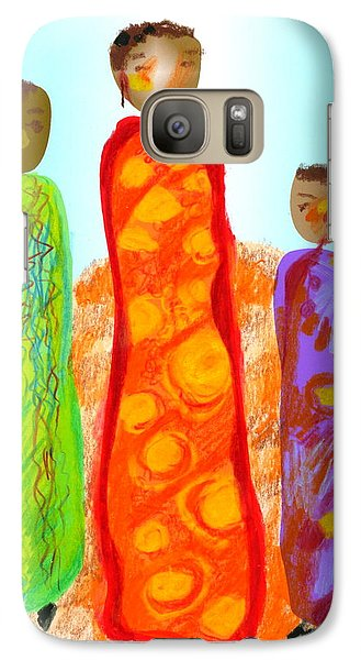Galaxy Case featuring the digital art Inspired By Gerty by Mary Armstrong