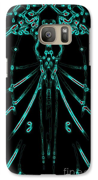 Galaxy Case featuring the digital art Instinct Color Variation 1 by Devin  Cogger