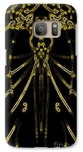 Galaxy Case featuring the digital art Instinct Color Variation 8 by Devin  Cogger
