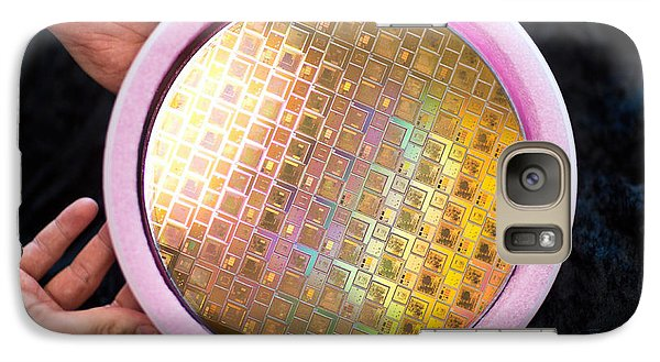 Galaxy Case featuring the photograph Integrated Circuits On Silicon Wafer by Science Source