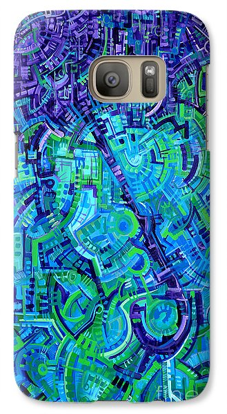 Galaxy Case featuring the painting Integrated by Michael Ciccotello