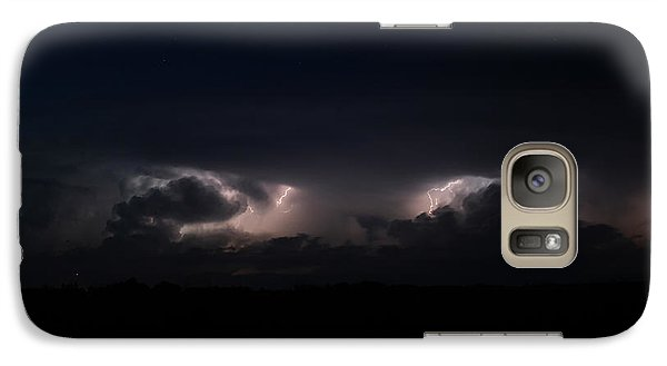 Galaxy Case featuring the photograph Intense Lightning by Ryan Crouse