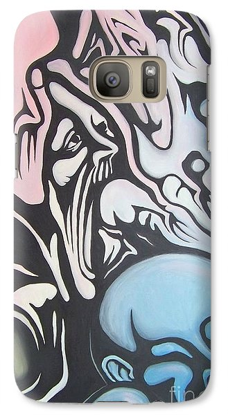 Galaxy Case featuring the painting Intensity by Michael  TMAD Finney