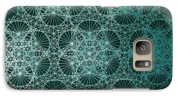 Galaxy Case featuring the drawing Interference by Jason Padgett