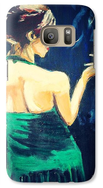 Galaxy Case featuring the painting Intermission 2 by Judy Kay