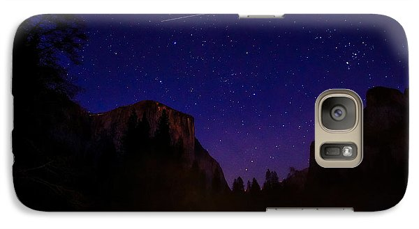 International Space Station Over Yosemite National Park Galaxy S7 Case