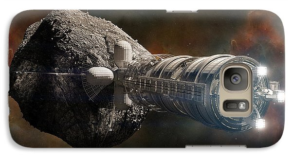 Space Ships Galaxy S7 Case - Interstellar Colony Maker by Bryan Versteeg