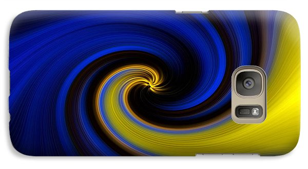 Galaxy Case featuring the digital art Into Blue by Trena Mara