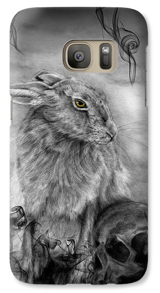Galaxy Case featuring the drawing Into Dust by Penny Collins