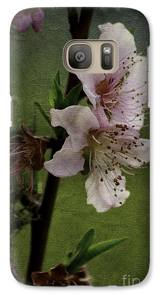 Galaxy Case featuring the photograph Into Spring Abstract by Lori Mellen-Pagliaro