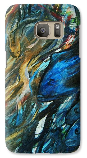 Galaxy Case featuring the painting Into The Blue by Dawn Fisher