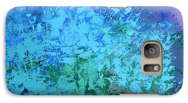 Galaxy Case featuring the painting Into The Deep Blue Sea by Linda Bailey