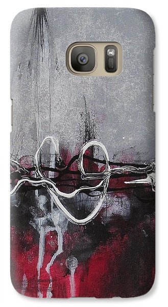 Galaxy Case featuring the painting Into The Fire by Nicole Nadeau
