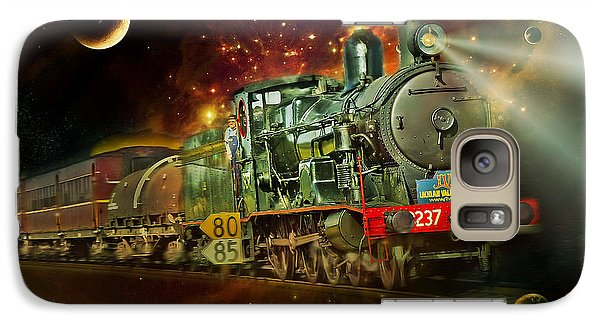Galaxy Case featuring the photograph Into The Future 01 by Kevin Chippindall